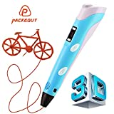 PACKGOUT 3D Pen, 3D Printing Pen with LCD Screen, 2nd Generation 3D Drawing Pen for Doodling, Art & Craft Making and Education, Comes w/ Free PLA or ABS Filament