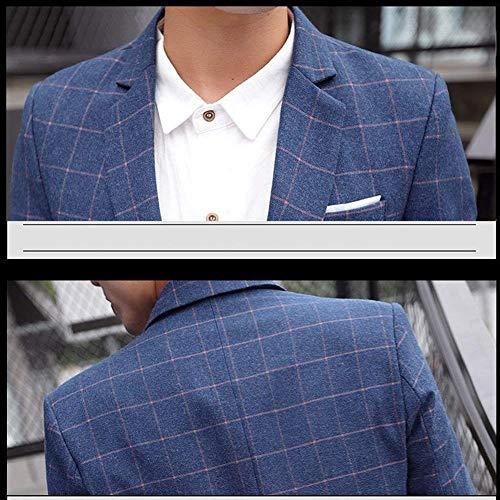 Slim Slim Chaqueta Un Coat De Ropa Chaqueta Hombres Fit Casual Premium Los Azul Casual Fit Estilo De Traje Business Botón con Jacket Terciopelo De Traje Xtq67Zw