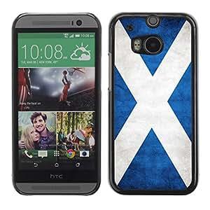 Caucho caso de Shell duro de la cubierta de accesorios de protección BY RAYDREAMMM - HTC One M8 - Scotland Grunge Flag