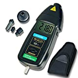 Tachometer, RISEPRO 2in1 Contact and Non contact Digital Laser Tachometer RPM Meter Speed Tester DT-2236B