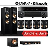 Klipsch RP-280F 7.1-Ch Reference Premiere Home Theater System (Piano Black) with Yamaha AVENTAGE RX-A3070BL 11.2-Channel Network A/V Receiver