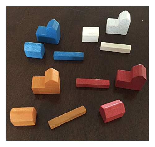 12 Individual Settlers of Catan Replacement Game Pieces 3061 Parts (Game Replacement Parts compare prices)