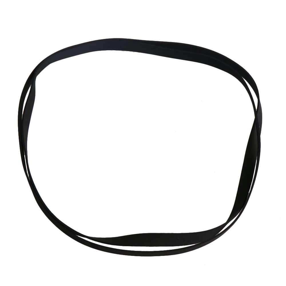 Yibuy 27x0.5cm Perimeter 54cm Black Rubber Turntable Replaceable Belt for Vinyl Record Player VCR Player Pack of 2 etfshop M7180417077