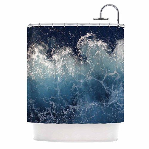 "Kess InHouse Suzanne Carter ""Sea Spray"" Navy Ocean Shower Curtain, 69 by 70"" from Kess InHouse"