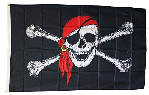 Pirate with Red Scarf - 3' x 5' Dura-Poly Polyester Pirate F