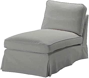 The Dense Cotton IKEA Ektorp Chaise Cover Replacement is Custom Made for IKEA Ektorp Chaise Lounge Cover. A Sofa Slipcover Replacement (Gray)