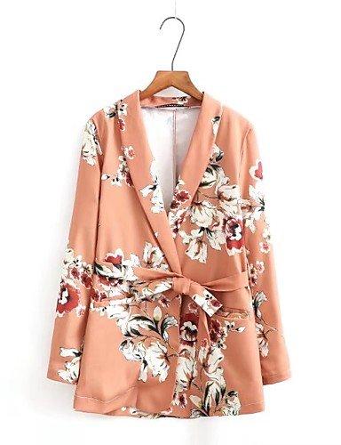 La mujer chaquetas patrones florales, sólida capa de Spandex Manga Larga asimétrica don: Amazon.es: Ropa y accesorios