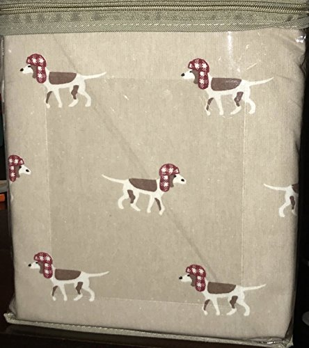 Woolrich Dog - Woolrich DOGS WITH HOLIDAY HATS Flannel Sheet Set - QUEEN Size ((cotton flannel)