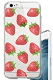 iPhone 6S Case Strawberries Overload Fruit Foodie Food Clear Translucent Transparent Unique Design Pattern Cover For iPhone 6S also fits iPhone 6
