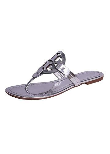 29fa0063aa2f66 TB Miller Metallic Sandal (6) Silver