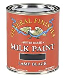General Finishes Milk Paint (1 Quart, Lamp Black)