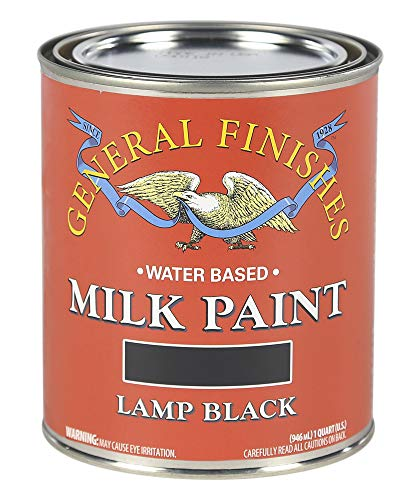 Distressed Paint Finish - General Finishes QLB Water Based Milk Paint, 1 Quart, Lamp Black