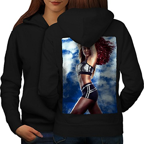 wellcoda Cheerleader Erotic Sexy Womens Hoodie, Sexy Print on The Jumpers Back