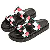Anddyam Women Slippers Shower Non-Slip Causal Indoor Home Bathroom House Sandals (for Women 9-10 B (M) US, Black)