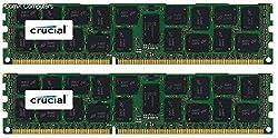Crucial 32gb Kit (16gbx2) Ddr3ddr3l-1600 Mts (Pc3-12800) Dr X4 Rdimm Server Memory Ct2k16g3ersld4160b Ct2c16g3ersld4160b