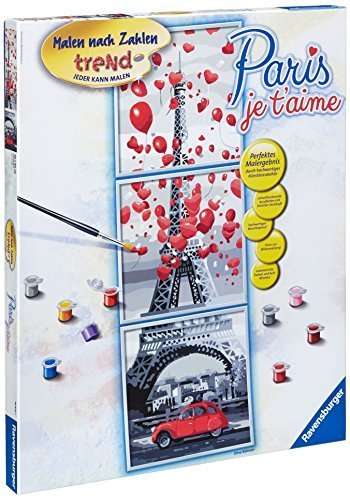 Ravensburger 28974 5 Paint by Numbers Paris, Je T'Aime