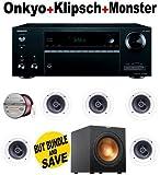 Onkyo TX-NR656 7.2-Channel Network A/V Receiver + 5 Klipsch - R1800C + Klipsch - R10SW + Monster Cable - PLATXPMS50 Bundle