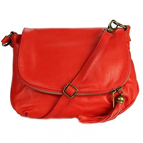 PALERME rouge Marron bandoulière PRIX Sac Sac WEB Cuir OLIVIA Cuir DU en N1085 Marron cuir ITqfxZcw
