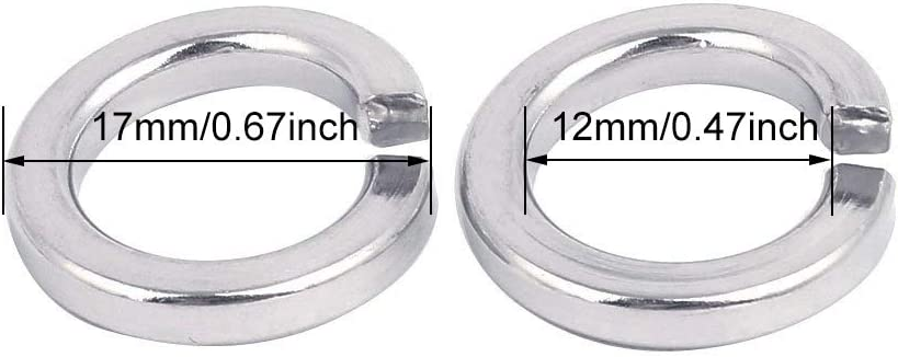 "0.24/""ID,100Pack Stainless Steel 18-8 304 M6 Stainless Flat Spring Lock Washers M6"