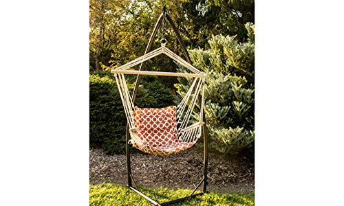 BACKYARD EXPRESSIONS PATIO · HOME · GARDEN 914972 Backyard Expressions Hammock Chair and Stand, Orange/White by BACKYARD EXPRESSIONS PATIO · HOME · GARDEN