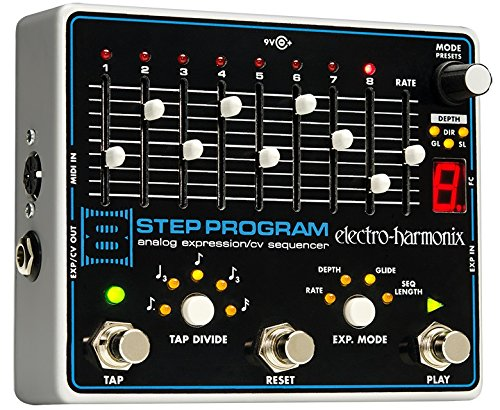 Electro-Harmonix 8-Step Program Guitar Expression Effect (Glide Single Pedal)