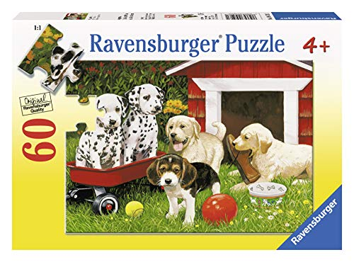 Ravensburger Puppy Party - 60 Piece Jigsaw Puzzle for Kids - Every Piece is Unique, Pieces Fit Together Perfectly]()