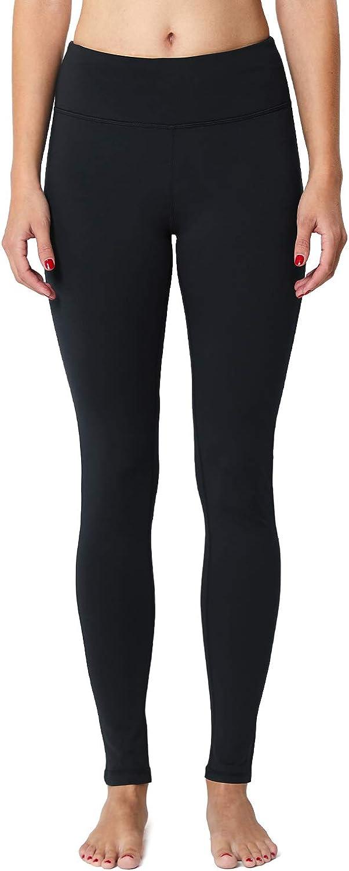BALEAF Womens Fleece Lined Leggings Thermal Tights Running Yoga Capri Pants Hidden Pocket