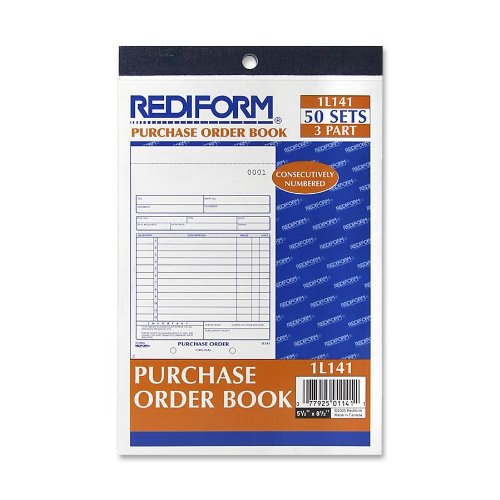 REDIFORM Purchase Order Book, 3 Part, Carbonless, 5.5 x 7.875