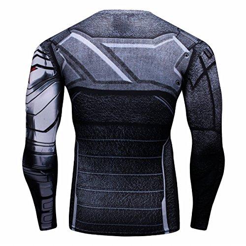 Homme shirt Longues Super T Soldat Chemise Manches Collant Héros Sport Cody Lundin 1ZqBwqH