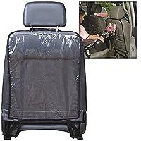 Transparent Clean-edge Kick Tapis de 2pcs/lot–Protection dorsale de l'assise et housse de siège avec languette invisible et Stiff Bordure