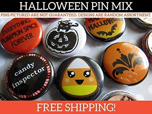 Random Halloween Pin Back Button Pins - Halloween Party Favors - Bulk Resale Wholesale Lot - 1
