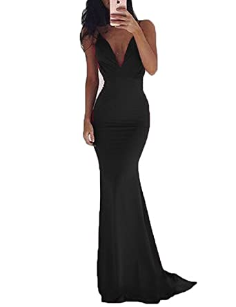 Beautydress Womens Sexy Backless Prom Dresses Mermaid Style With Spaghetti Straps BP110(bl,2