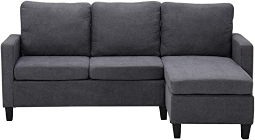 Shamdon Home Collection Double Chaise Longue Combination Sofa,Convertible Design,L-Shaped Couch,Easyassembly