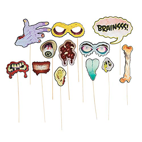 Zombie Photo Stick Props (12 Pack) 2 5/8
