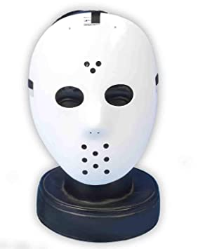 Komonee Jason Hockey Traje Blanco máscara de Halloween (Pack of 50) (HM22)