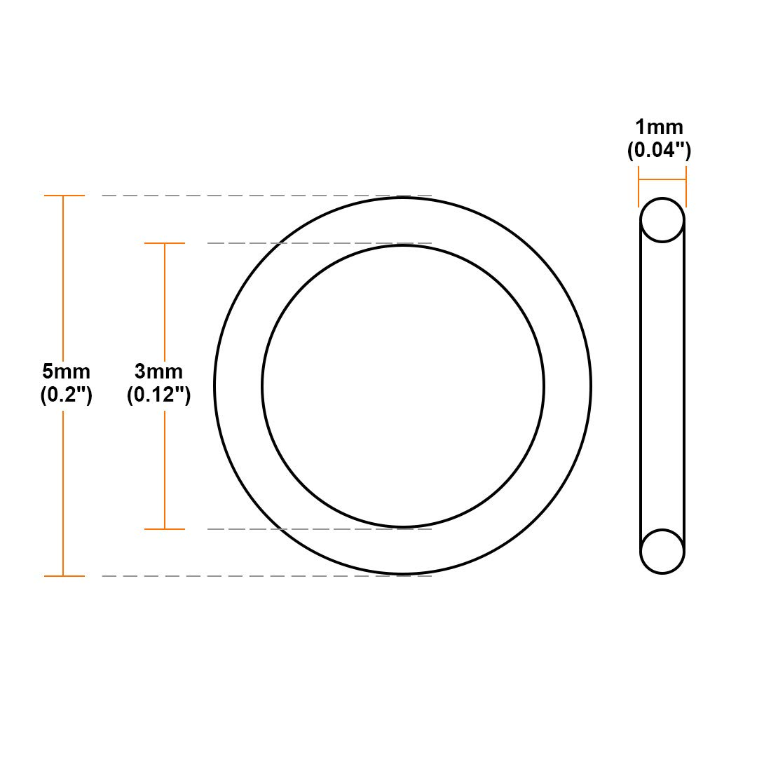1//2 x 42 OC D/&D PowerDrive AX40 V Belt Rubber