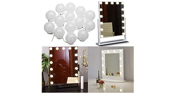 DADEQISH 14W 14LED Maquillaje luz de Espejo USB luz Blanca Natural táctil Regulable luz elástica de la Secuencia Luz Interior: Amazon.es: Hogar