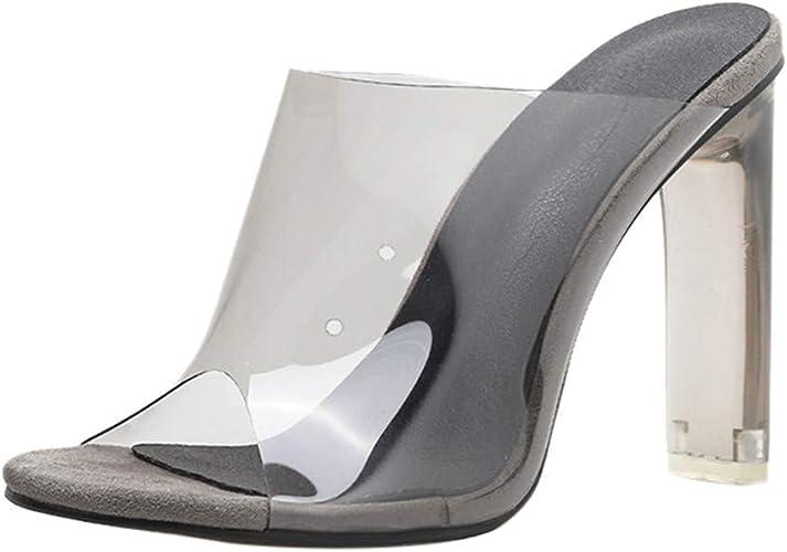 Peep Toe Sandals Clear Heel Women