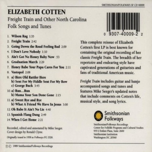 Freight Train And Other North Carolina Folk Songs and Tunes