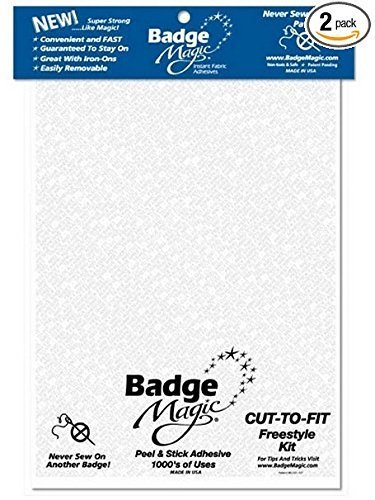 (Badge Magic Cut to Fit Freestyle Patch Adhesive Kit)