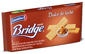 Colombina Arequipe-Dulce de leche Bridge Wafer 5.3oz (3 Pack)