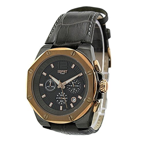 ESPRIT Men's ES102881008 Clear Octo Gun Rosegold Analog Chronograph Watch