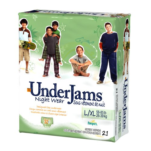 (Pampers UnderJams Night Wear For Boys, Size L/XL (58-85 Lbs), 21-Count Packages (Pack of 3))