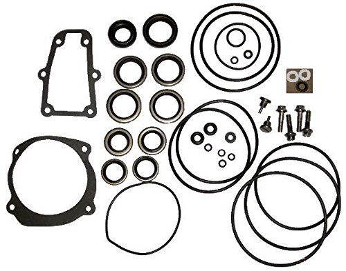Complete Lower Unit Seal Kit for Johnson Evinrude V4, V6, V8 replaces 5006373 5000411 (Boat Engine 150 Hp)