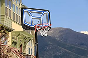 7.5 10 ft. Lifetime Unisex-Youth Adjustable Portable Basketball Hoop 44-Inch Polycarbonate 2,28 m-3,04 m Black