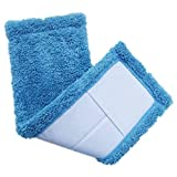 GBSELL Mop Head Replacement Home Cleaning Pad Coral Velet Refill Household Dust (Blue)