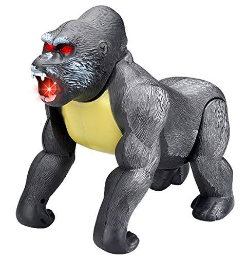 Electronic Walking Gorilla Ape Animal Toy Monkey Kong with Lights & -