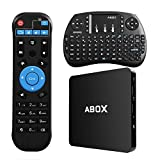 Image of Globmall Android 6.0 TV Box with Wireless Keyboard and Remote 1GB RAM 8GB ROM, ABOX 4K WiFi TV Box with Quad-Core 64 Bits CPU Amlogic S905X Chip