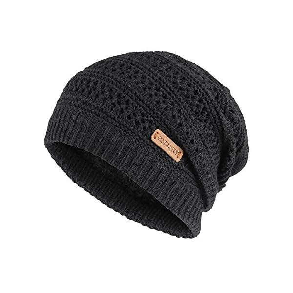 OMECHY Unisex Slouchy Beanie Hats Winter Warm Knit Skull Fleece Ski Cap 4  Color  62924cb56616