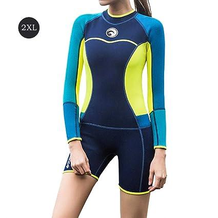 Anna-neek Traje De Buceo Neopreno De Manga Larga Chaqueta Pantalones Cortos, Ideal para Bucear Natación Practicar Surf, Buceo, Snorkel, Deportes ...